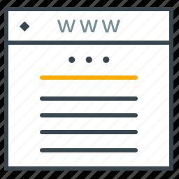 browser, communciation, development, marketing, web, website icon