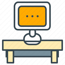 computer, desk, marketing, monitor, office, workplace icon