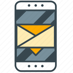 envelope, message, mobile, newsletter, phone, smart icon