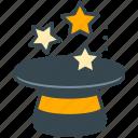 magic, hat, marketing, show, stars, tool, wizard