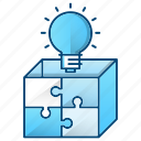 box, idea, marketing, puzzle, seo, solution icon