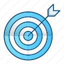 aim, focus, goal, marketing, success icon