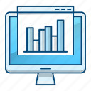 analytics, data, marketing, online, site icon