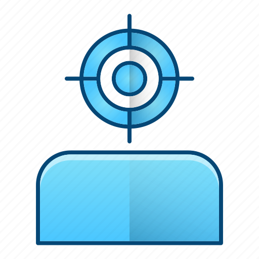 audience, focus, goal, seo, sniper, target icon
