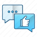 bubble, feedback, marketing, positive, rate icon