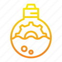 analysis, gear, lamp, light, marketing, marketing icon icon