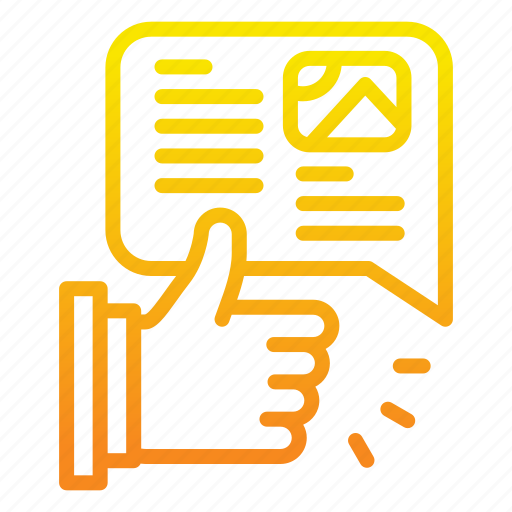Hand, like, marketing icon, msg, news, paper icon - Download on Iconfinder