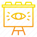 board, eye, marketing, marketing icon, outbound, show icon