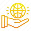 control, earth, globe, hand, marketing, marketing icon, public icon