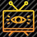 advertising, eye, marketing, marketing icon, screen, show, television icon