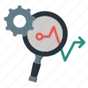 analysis, arrow, focus, gear, loop, marketing, marketing icon icon