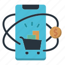 device, dollar, marketing, marketing icon, mobile, shop icon