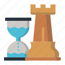 castle, marketing icon, strategy, time, timer icon