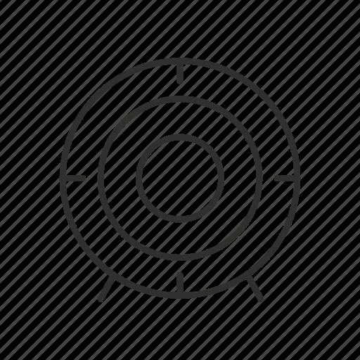 bulls eye, bullseye, focus, hit the target, on target, target, target market icon