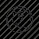 earth, globe, north america, north america map, whole globe, world, world map icon