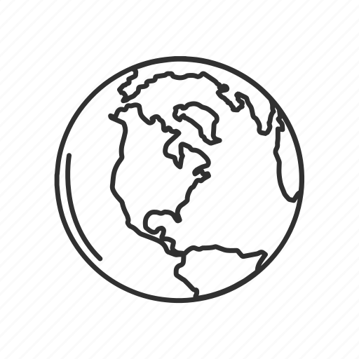earth, globe, north america, north america map, whole globe, world, world map icon