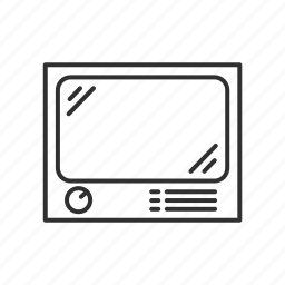 old school, old television, old tv, television, tv, wide screen tv icon