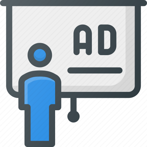 ad, advertising, marketing, presentation icon