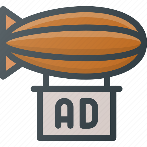 Ad, advertising, air, airship, marketing icon - Download on Iconfinder
