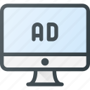 ad, advertising, computer, marketing, online, paid icon