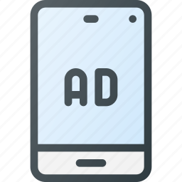 ad, advertising, marketing, message, mobile, online icon