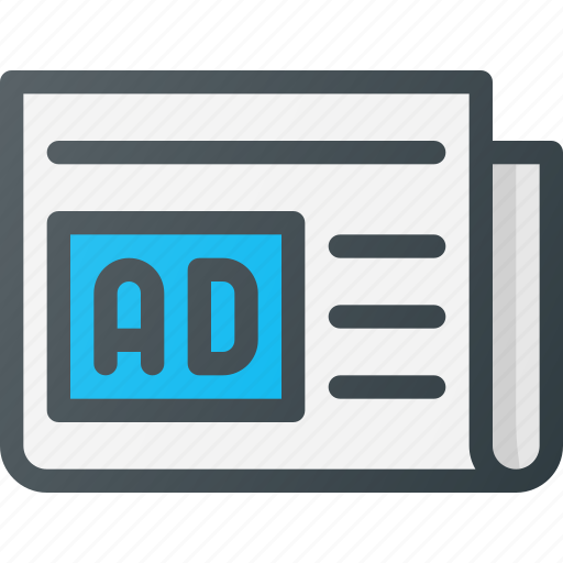 ad, advertising, marketing, newspaper icon