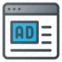 ad, advertising, marketing, online icon