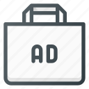 ad, advertising, bag, shop, shopping icon