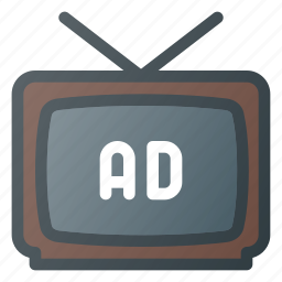 ad, advertising, marketing, telemarketing, tv icon