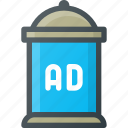 ad, advertising, column, marketing icon