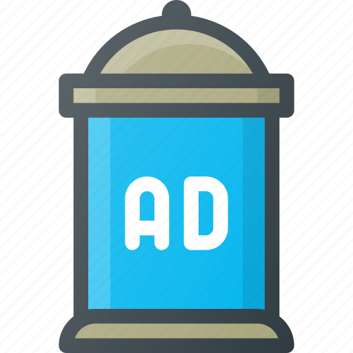 Ad, advertising, column, marketing icon - Download on Iconfinder