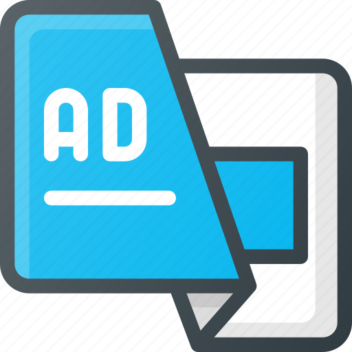 ad, advertising, leaflet, marketing icon