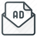 ad, advertising, email, letter, mail, marketing