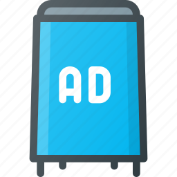 advertising, board, marketing, road, street icon