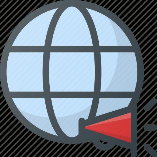 ad, advertising, marketing, online, worldwide icon