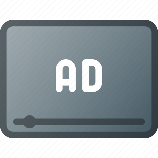 Ad, advertising, marketing, online, video icon - Download on Iconfinder
