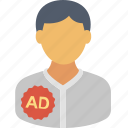 advertising, campaign, commercial, marketing, person, promotion, sponsored ads icon