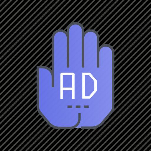 ad, advertisement, advertising, block, stop icon