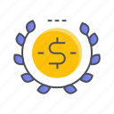 coin, dollar, donation, finance, money icon