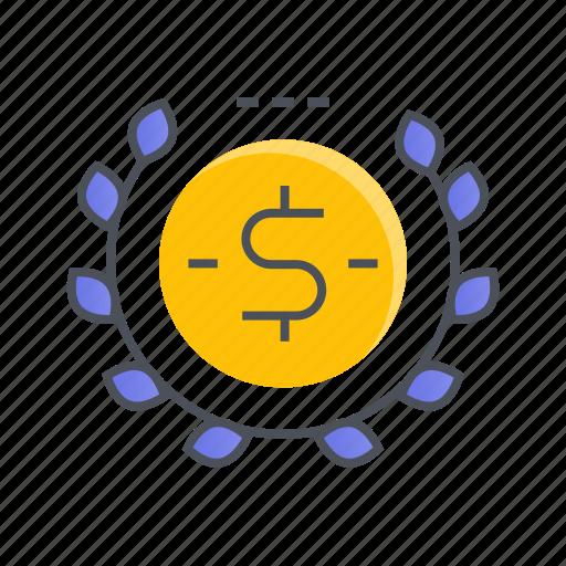 coin, dollar, donation, finance, money icon
