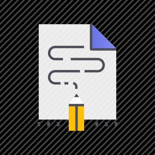 document, pencil, storytelling, writing icon