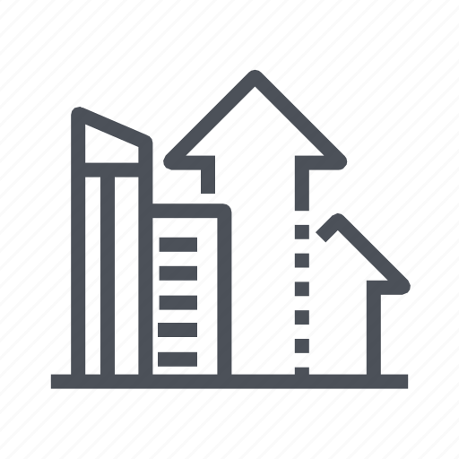 building, company, estate, growing, office icon
