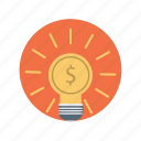 business, dollar, idea, seo icon