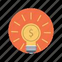 business, dollar, idea, seo icon