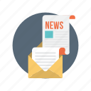 newsletter, envelope, letter, message