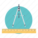 construction, equipment, measurement, precision icon