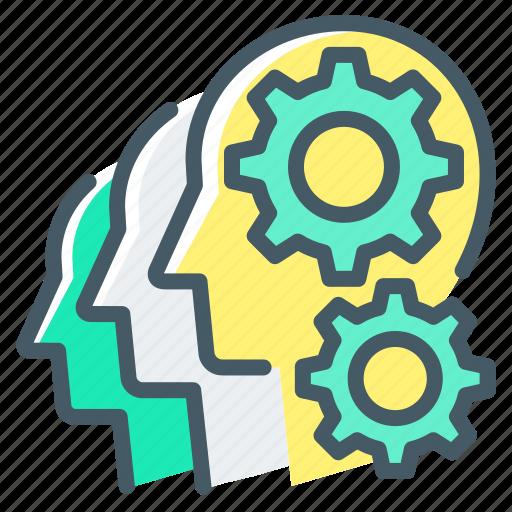 Cogwheel, finance, gears, team, teamwork, work icon - Download on Iconfinder