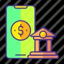 bank, banking, dollar, mobile, online, smartphone, technology