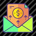 digital, mail, marketing, money, trafic icon