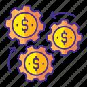 business, dollar, finance, gear, marketing, money, report